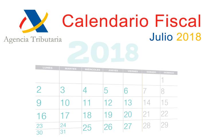 El ICOFCV informa: calendario fiscal para julio de 2018