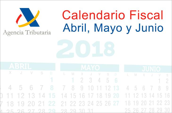 El ICOFCV informa: calendario fiscal para abril, mayo y junio de 2018