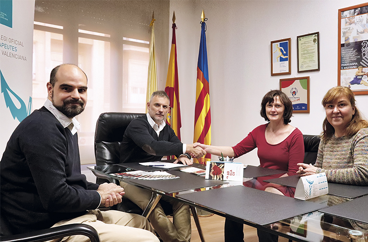 El Colegio de Fisioterapeutas de la CV apoya a las personas con Esclerosis Lateral Amiotrófica