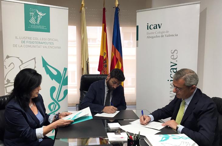 El Colegio de Fisioterapeutas y el de Abogados firman un convenio de colaboración para impulsar la mediación