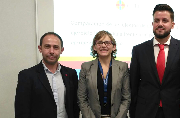 La colegiada Eva Segura, miembro del recién constituido Grupo Español Multidisciplinar de Ejercicio Físico en el Enfermo Renal