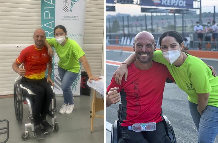 Servicio de Fisioterapia en el III Gran Premio de Valencia de Ciclismo Adaptado