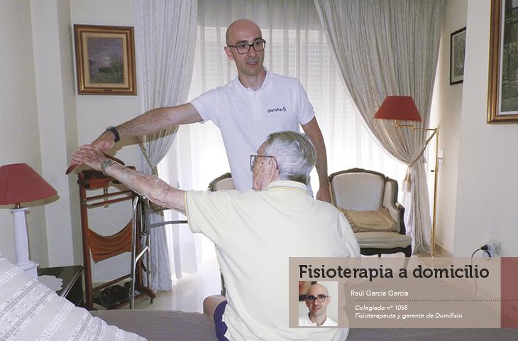 """""""Fisioterapia a domicilio, una vía con mucho futuro"""" artículo de la revista colegial FAD"""