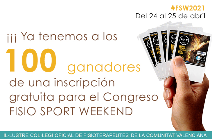 Colegiados/as ganadores del sorteo de 1 inscripción para Fisio Sport Weekend