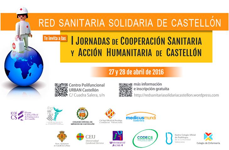 El ICOFCV colabora en las I Jornadas de Cooperación Sanitaria y Acción Humanitaria de Castellón