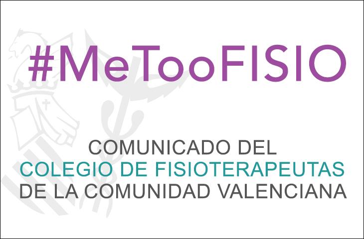 El ICOFCV se suma a la condena de los casos de acoso que sufren las mujeres fisioterapeutas. #MeTooFISIO