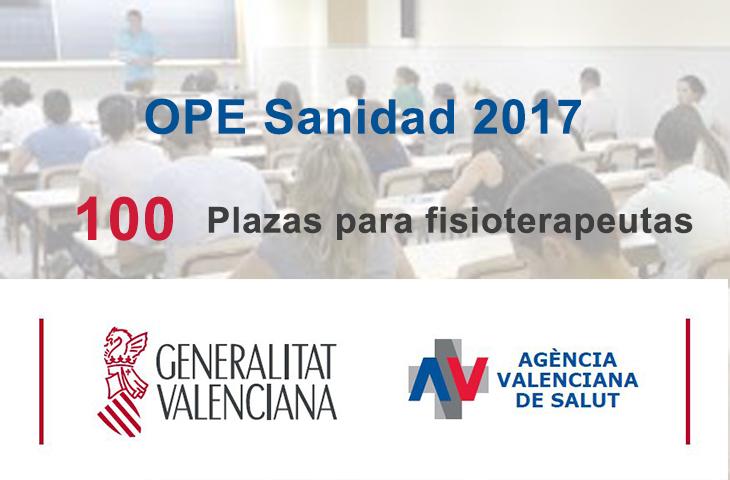 El Consell aprueba la Oferta Pública de Empleo de Sanidad para 2017: 6.790 plazas, 100 de ellas para fisioterapeutas