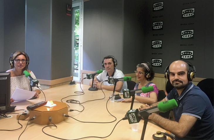La V Jornada Solidaria del Colegio de Fisioterapeutas volvió a ser protagonista en Onda Cero