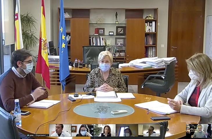 La consellera de Sanitat se ha reunido con los representes de los colegios profesionales sanitarios para valorar el Plan de Vacunación COVID-19