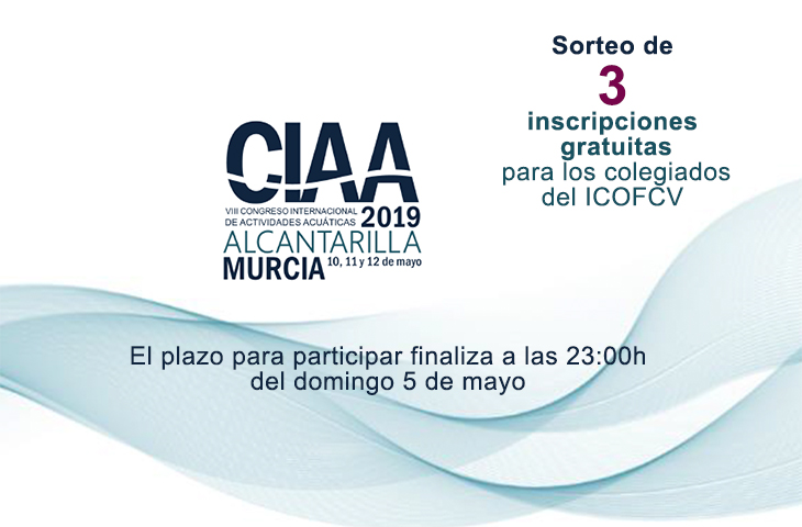 El ICOFCV sortea 3 inscripciones gratuitas entre sus colegiados para el Congreso CIAA 2019