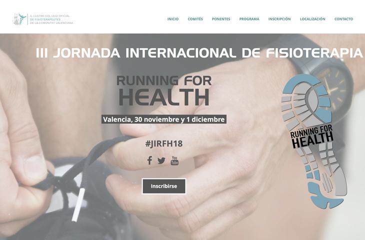 """Abierta la inscripción para la III Jornada Internacional de Fisioterapia del ICOFCV, """"Running for Health"""""""