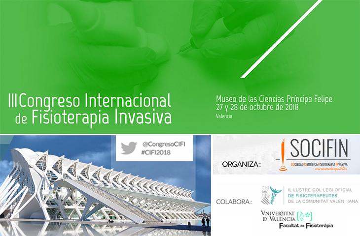 Valencia acoge en octubre el III Congreso Internacional de Fisioterapia Invasiva, en el que colabora el ICOFCV