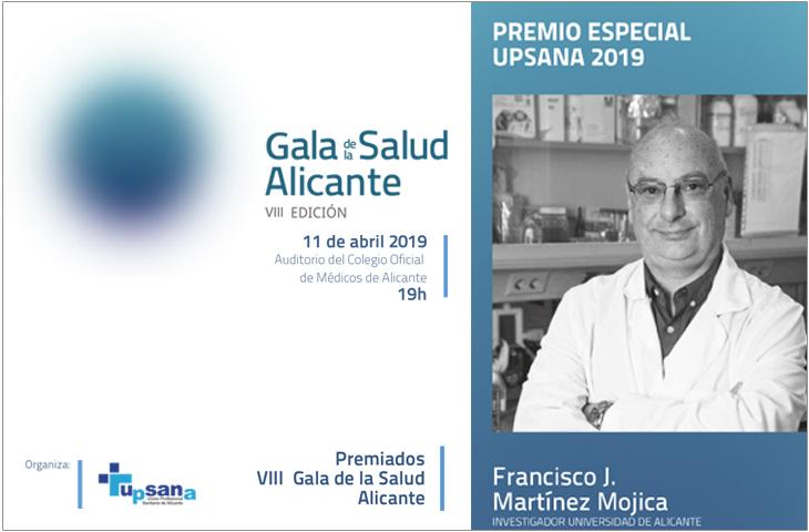 UPSANA distingue a 11 profesionales sanitarios y colectivos en la VIII Gala de la Salud 2019