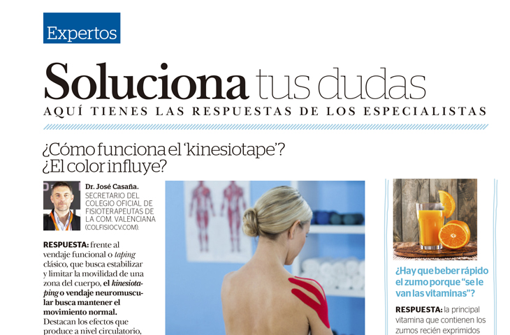 Cómo funciona el kinesiotaping aplicado de manera correcta por un fisioterapeuta (revista Mía)