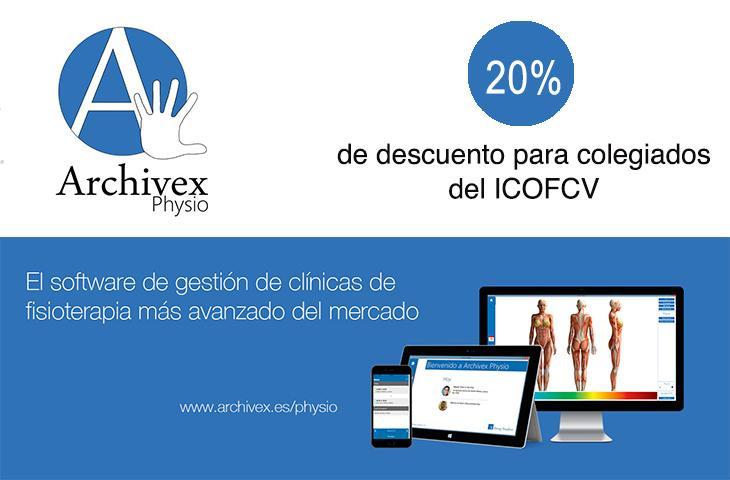 El ICOFCV y la empresa Archivex Physio firman un convenio con descuentos para los colegiados