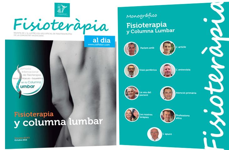 """Nuevo número de la revista colegial FAD con un monográfico sobre """"Fisioterapia y columna lumbar"""""""