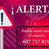 Atención. Posible estafa desde el número 607 717 819