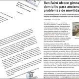 El Colegio de Fisioterapeutas solicita al ayuntamiento de Benifairó que los servicios terapéuticos municipales sean realizados por profesionales sanitarios cualificados