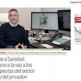 """José Casaña: """"Pedimos a Sanidad que vacune a la vez a los fisioterapeutas de la sanidad pública y de la privada"""""""