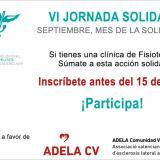 Abierta la inscripción a la VI Jornada Solidaria del ICOFCV. Si tienes una clínica de fisioterapia, ¡participa!