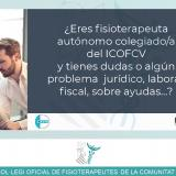 Nuevo servicio de asesoramiento técnico personalizado gratuito para fisioterapeutas colegiados/as autónomos