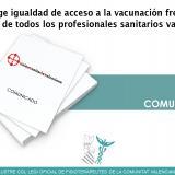 USV exige igualdad de acceso a la vacunación frente a la COVID-19 de todos los profesionales sanitarios valencianos