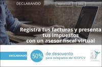El Colegio de Fisioterapeutas firma un convenio de colaboración con la plataforma online de asesoría fiscal Declarando.es