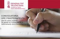 Nueva convocatoria de oposición de 28 plazas de fisioterapeuta para el cuerpo superior de gestión en Fisioterapia