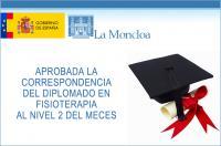 Aprobada la correspondencia del Diplomado en Fisioterapia al nivel 2 del MECES