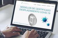 Nuevos Modelos de Certificado de Desplazamiento COVID-19 en la zona privada para colegiados