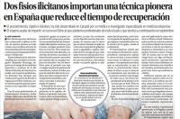 Dos fisioterapeutas de Elche importan una técnica pionera en España que reduce el tiempo de recuperación ante lesiones vía Información