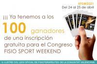 Colegiados/as ganadores del sorteo de 1 inscripción para Fisio Sport Weekend