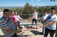 Los centros ocupacionales reciben las bandas elásticas y el material donado por el ICOFCV