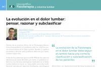 La evolución en el dolor lumbar: pensar, razonar y subclasificar (Art. Jesús Rubio)