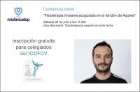"""Sábado 30 julio, conferencia online gratuita para colegiados sobre """"Fisioterapia Invasiva ecoguiada en el tendón de Aquiles"""""""