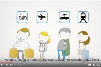 La importancia de elegir correctamente el equipaje y transportarlo de forma adecuada para evitar lesiones  (vídeo-consejo abril)