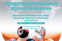 El Colegio, colaborador del X Congreso Internacional de Estudiantes de Fisioterapia de la UMH