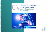 Descuento para colegiados del ICOFCV en la inscripción del curso de Neuropatías