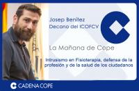 El decano del ICOFCV ha sido entrevistado por COPE Valencia para abordar cómo detectar el intrusismo y las consecuencias que puede suponer para los ciudadanos ponerse en manos de un no profesional.