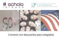 El ICOFCV firma un convenio de colaboración con el centro de estudios Schola