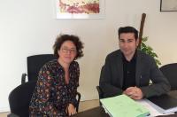 La directora general de Universidades se reúne con el decano del ICOFCV