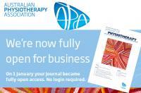 """La revista """"Journal of Physioterapy"""" pone en abierto todo su contenido"""
