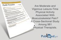 Realizar más de 75 min/semana de actividad física vigorosa se asocia a menor dolor de cuello y hombros en los fisioterapeutas